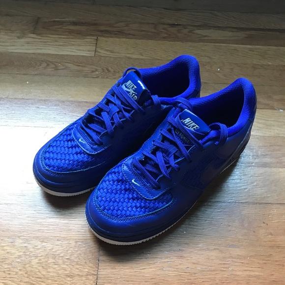 Blue Nike Air Force Ones   Poshmark